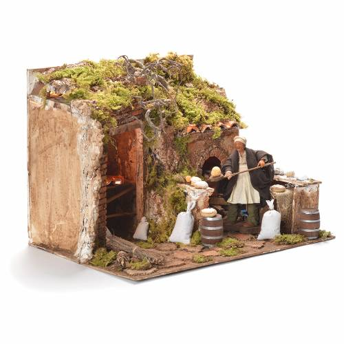 Animated baker, Neapolitan Nativity 12cm s2