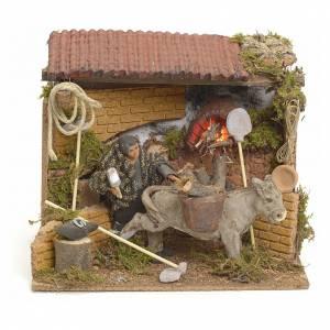 Animated manger scene setting, farrier 12 cm s1