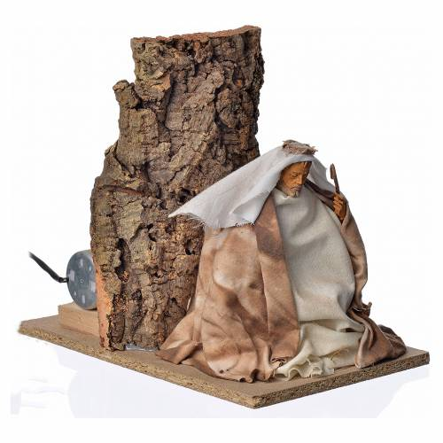 Animated nativity scene figurine, Saint Joseph, 18 cm s3