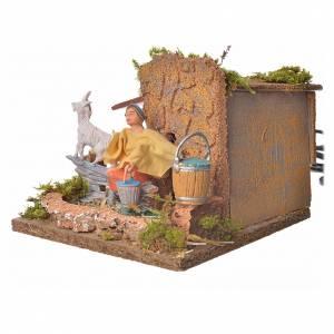 Animated nativity scene figurine, shepherd with sheep, 10 cm s3