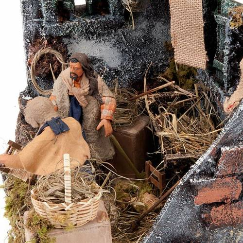 Animated nativity scene, men repairing chairs 12cm s3