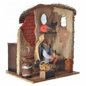 Animated Neapolitan nativity figurine, fishmonger 10cm s2