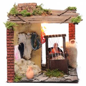 Neapolitan Nativity Scene: Animated weaver 10cm Neapolitan Nativity