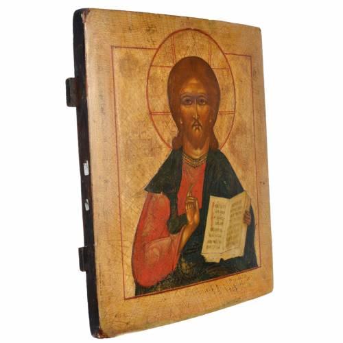 Antique Russian icon, the Pantocrator XVIII - XIX century s2