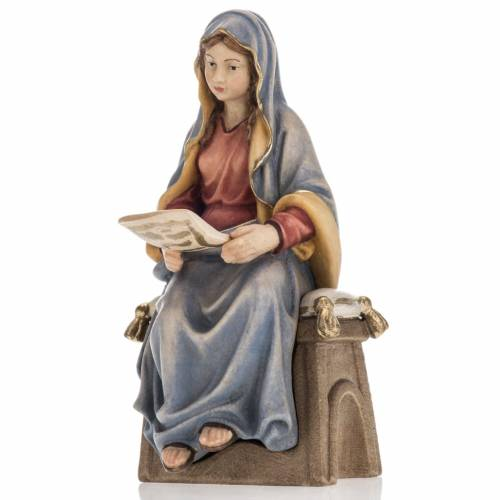 Anuncio del ángel a la Virgen María madera pintada s2
