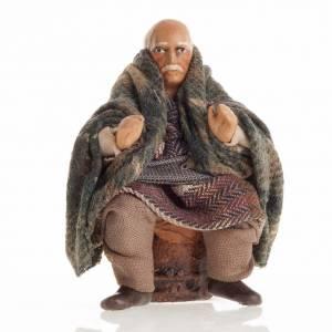 Presepe Napoletano: Anziano 8 cm presepe napoletano