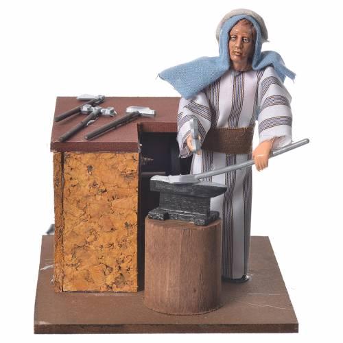 Arabian smith, animated nativity figurine, 12cm s1
