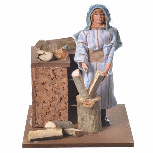 Arabian woodcutter, animated nativity figurine 12cm s1