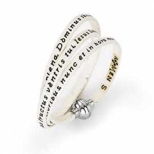 Armbänder AMEN: Armband AMEN Ave Maria Lateinisch weiß