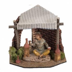 Maisons, milieux, ateliers, puits: Atelier du décorateur crèche Fontanini village 12 cm