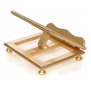 Atril de mesa en haya y  hoja de oro s2