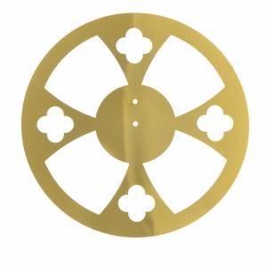 Aros y Coronas: Aureola latón dorado flores