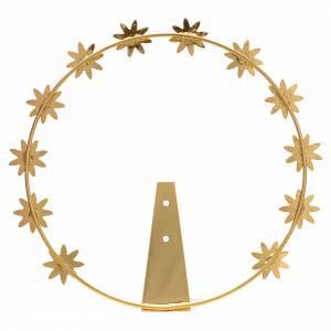 Aureole i korony do figur: Aureola z gwiazdami ośmioramiennymi