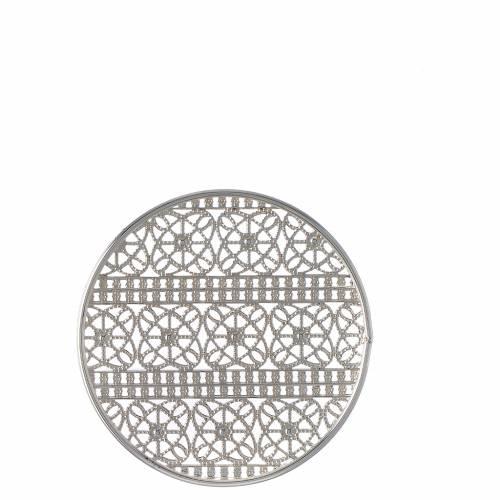 Auréole décorée laiton argenté s4