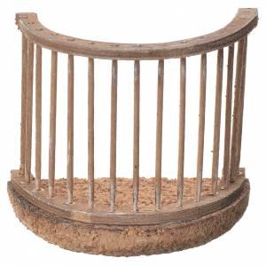Balcon crèche napolitaine 8x8 cm s1