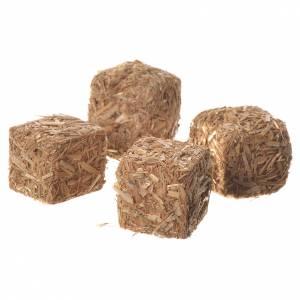 Mousse végétale, Lichens, Arbres, Pavages: Balles de foin crèche 3 pcs 2x2x2,5 cm