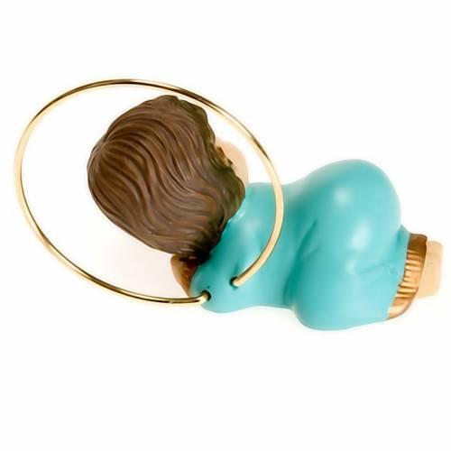 Bambinello con aureola resina 6 cm 5