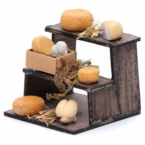 Banchetto di formaggi accessorio presepe napoletano s2