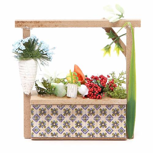 Banchetto presepe fiorista 10,5x11x4 cm s1