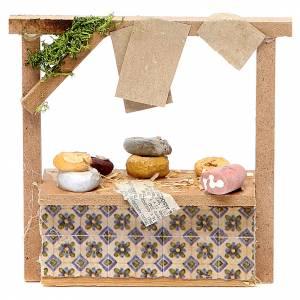 Banchetto presepe formaggi e salumi 10,5x11x4 cm s1