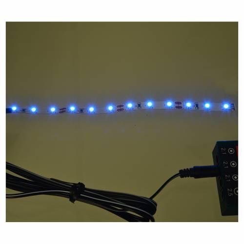 Bande 12 micro-leds pour Frisalight 0,8x16 cm bleu s2
