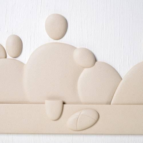 Bas-relief Dernière Cène 80x50 cm grès porcelainé s2