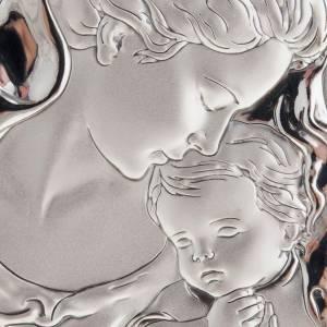 Bas reliefs en argent: Bas relief en argent , mère avec voile et enfant