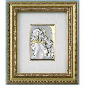 Bas-relief, Ferruzzi's Madonna gold, silver on wood s1