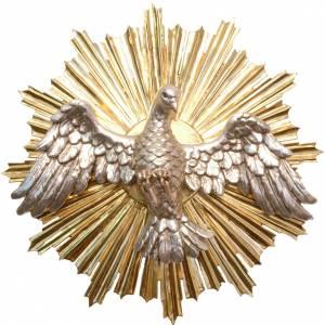 Bas-relief, Holy Spirit 44cm in antique gold Valgardena wood s1
