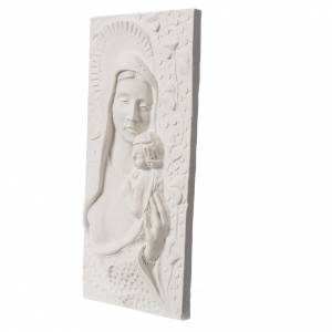 Articles funéraires: Bas relief marbre Vierge à l'enfant 30 cm