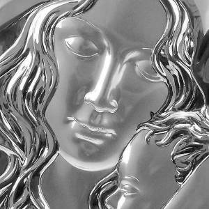 Silver/Gold Bas Relief Madonna with Baby Jesus s3