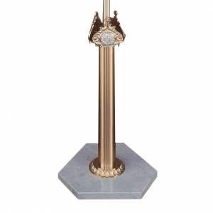 Base per croce astile in ottone fuso e marmo di Trani s1