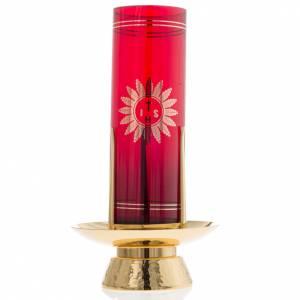 Lampes de Sanctuaire: Base pour veilleuse de sanctuaire laiton doré
