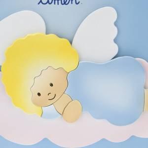 Sonstige Basreliefs: Basrelief-Tafel Engel Dei, auf Wolke