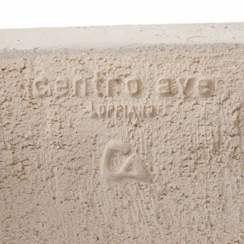 Bassorilievo Maria Gold argilla bianca h 17,5 cm s5