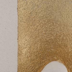 Bassorilievo Maria Gold illuminato h 29,5 cm s3