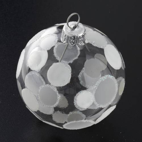 Bauble for Christmas tree in blown glass, 6cm diameter s2