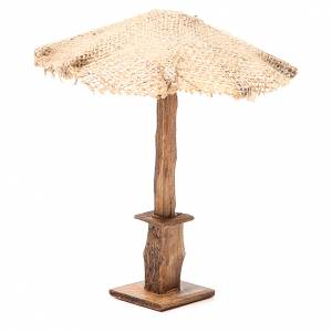 Beach Umbrella jute Nativity 16x16x16cm s2