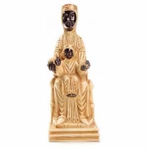 Statue in pietra: Beata Vergine di Montserrat 16 cm pietra avorio Bethléem