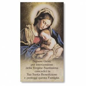 Accessori per Benedizione: Benedizione delle case Cartoncino Madonna con Bambino ITA