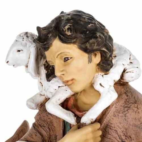 Berger avec agneau crèche Fontanini 85 cm résine s4