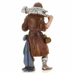 Crèche Moranduzzo: Berger avec brebis, santon crèche Landi 8 cm