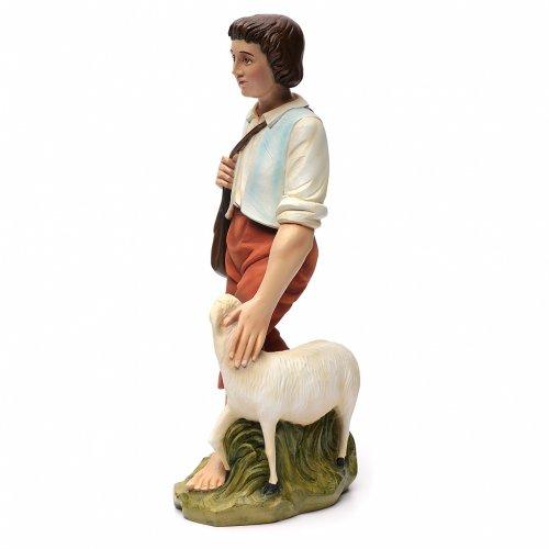 Berger avec mouton crèche Noel 60 cm fibre de verre s9