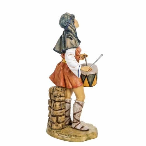 Berger avec  tambour crèche Fontanini 65 cm résine s5