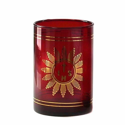 Mezzo Bicchiere vetro rosso rubino s1