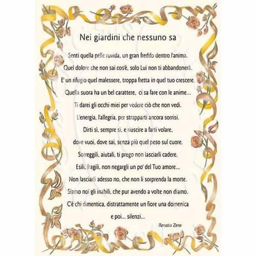 Auguri Matrimonio Canzoni : Biglietto auguri canzone nei giardini che nessuno sa r