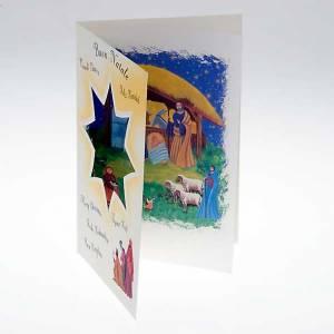 Biglietto auguri Natale con pergamena nascità Gesù s2