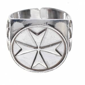 Bishop's ring in 800 silver with Maltese cross s1