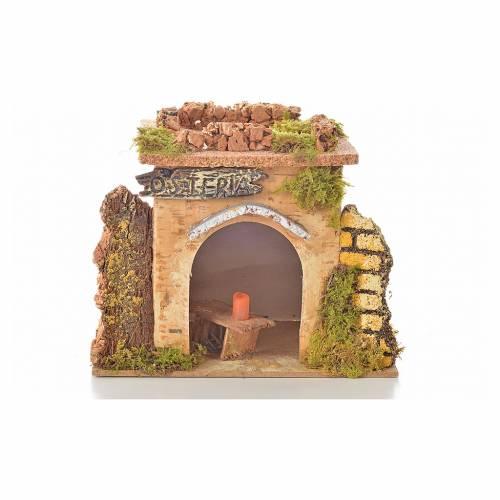 Bistrot en miniature crèche de noël 15x10 cm. D&eacu s4