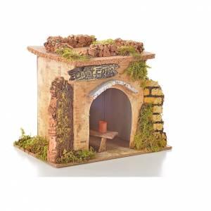 Bistrot en miniature crèche de noël 15x10 cm. D&eacu s5
